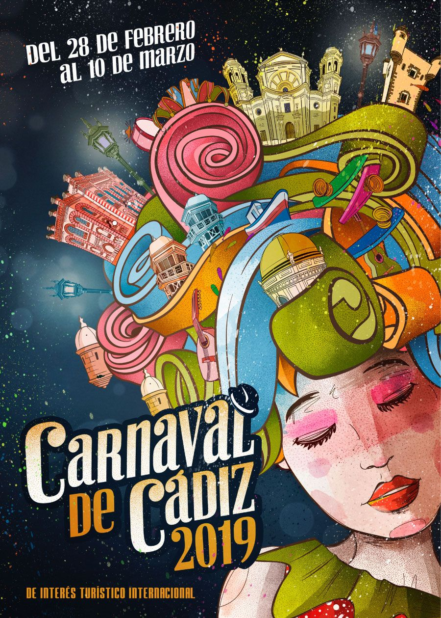 cartel carnaval de cadiz 2019