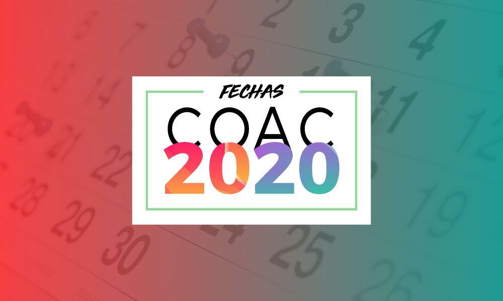 fechas coac 2020